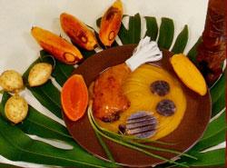 Curry de poulet au fei et patates douces