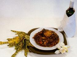 Poulet coco au fafa